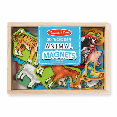 Melissa & Doug® Wooden Animal Magnets