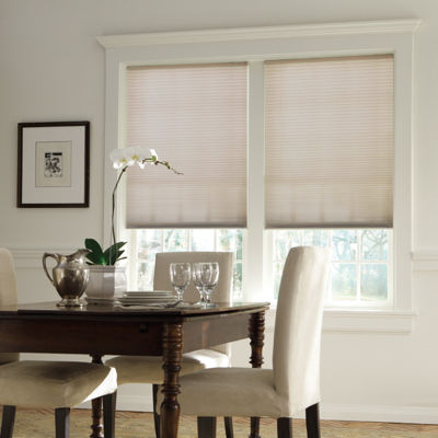 "Bali® Custom Daybreak Cordless Light Filtering ⅜"" Double Cellular Shade"