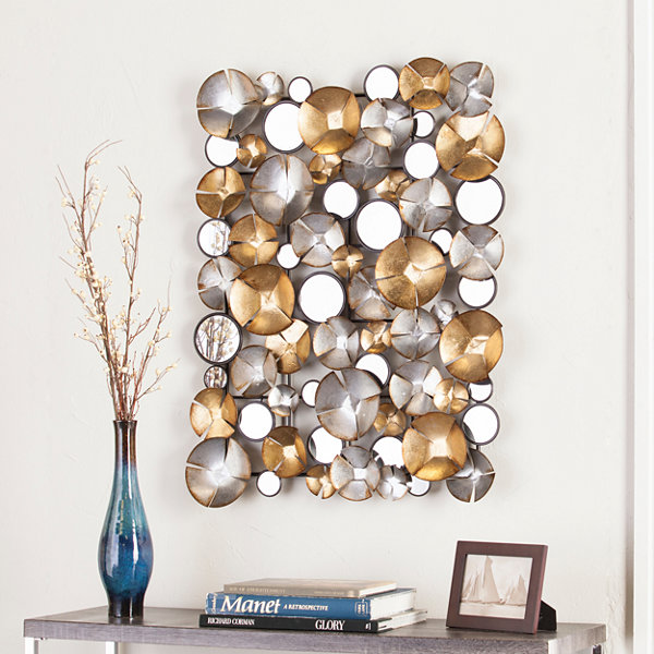 Southern Enterprises Locarno Metal Abstract Wall Sculpture