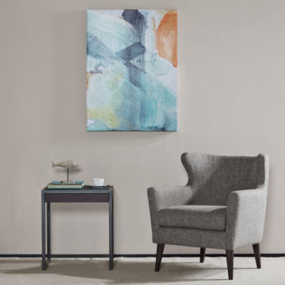 Madison Park Blue Skies Brush Gel Coat Canvas Art