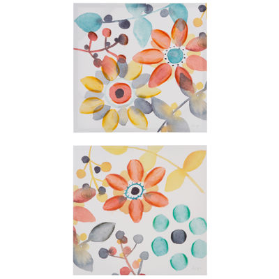 Intelligent Design Sweet Florals 2-pack Canvas Art
