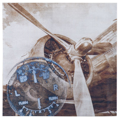 INK + IVY History Of Aviation Ii Metallic Canvas Art