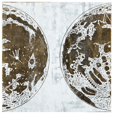 INK + IVY Map The Moon Printed Canvas Art