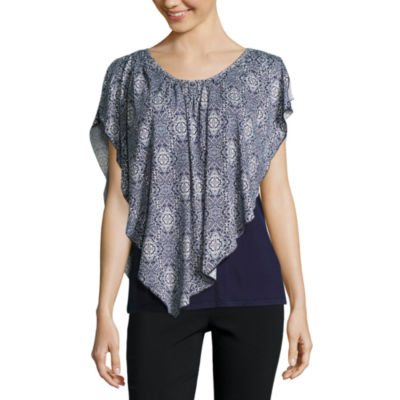 Alyx Short Sleeve Scoop Neck Knit Blouse