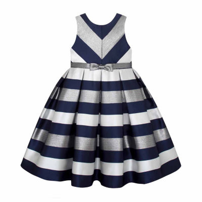 American Princess Sleeveless Stripe A-Line Dress - Big Kid Girls