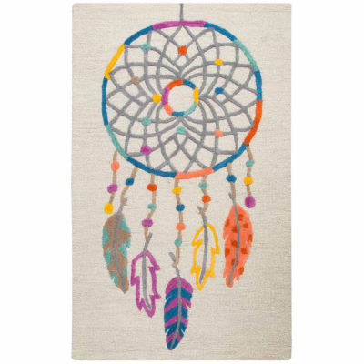 Rizzy Home Play Day  Collection Allie Dream Catcher Rectangular Rug