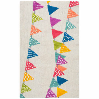 Rizzy Home Play Day  Collection Brynn Pennant Bannder Rectangular Rug