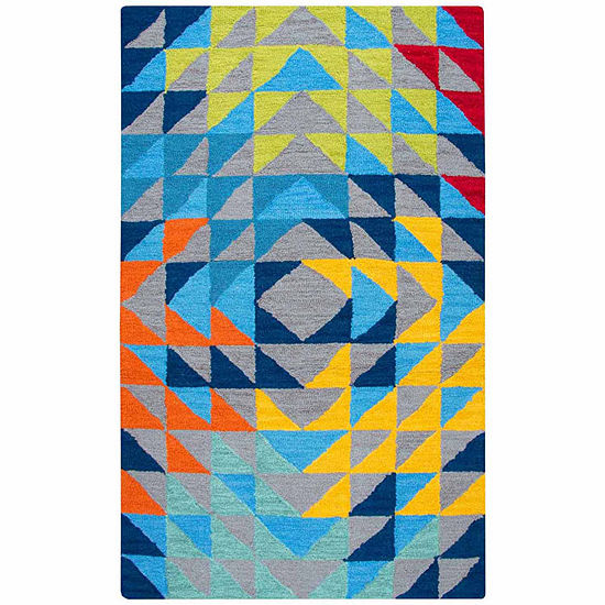 Rizzy Home Play Day  Collection Evangeline Geometric Rectangular Rugs