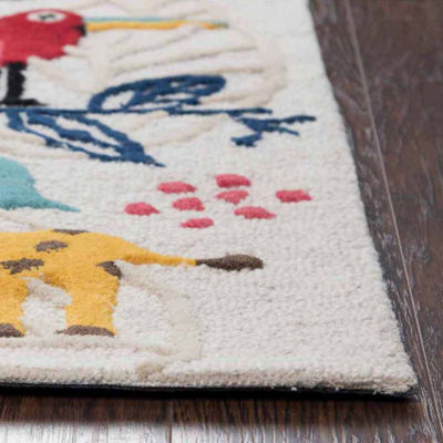 Rizzy Home Play Day  Collection Gabriela Zoo Animals Rectangular Rug