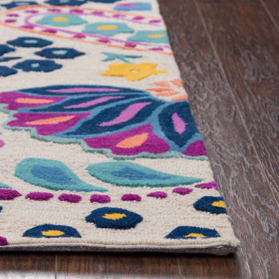 Rizzy Home Play Day  Collection Jennifer Paisley Rectangular Rug