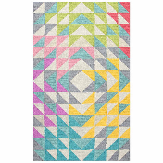 Rizzy Home Play Day  Collection Jordan Geometric Rectangular Rugs