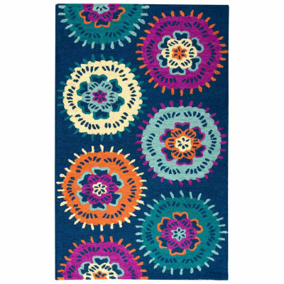 Rizzy Home Play Day  Collection Josie Medallion Rectangular Rug