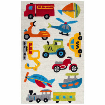 Rizzy Home Play Day  Collection Melissa Transporation Rectangular Rug