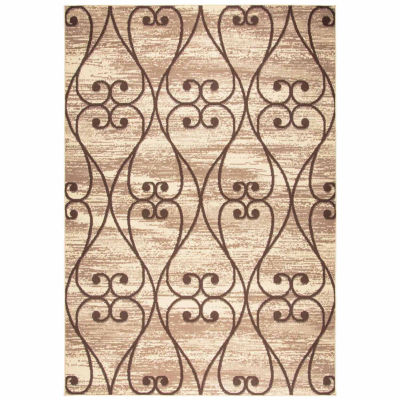 Rizzy Home Xcite Collection Ember Scroll Rectangular Rugs