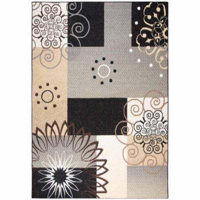 Rizzy Home Xcite Collection Journee Color Block Rectangular Rugs