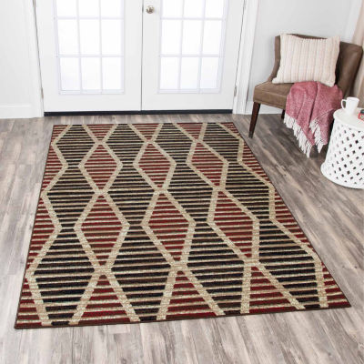 Rizzy Home Xcite Collection Sage Diamond Rectangular Rugs