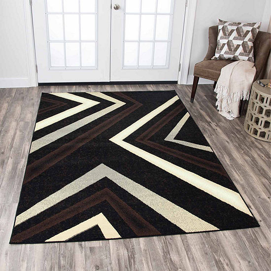 Rizzy Home Xcite Collection Scarlet Stripe Rectangular Rugs