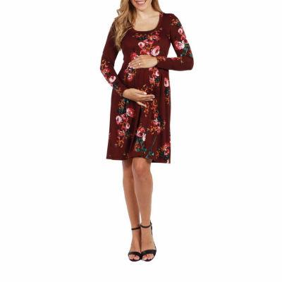 24/7 Comfort Apparel Umbria Maternity Dress - Plus