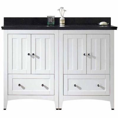 American Imaginations Shaker Rectangle Floor Mount 4-in. o.c. Center Faucet Vanity Set