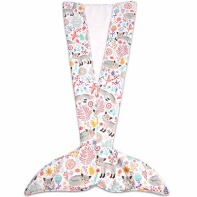 """Lush Decor Pixie Fox Mermaid Shape Sherpa Throw"