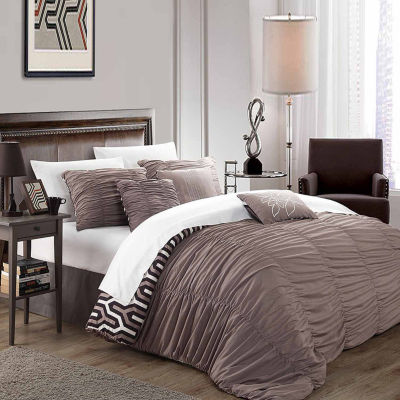 Chic Home Lessie 7-pc. Midweight Reversible Comforter Set