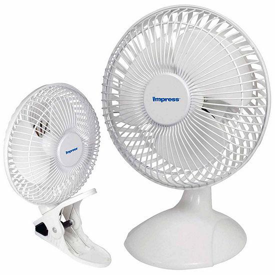 Impress 6 Inch Dual Purpose 2 In 1 Clip Desk Fan White