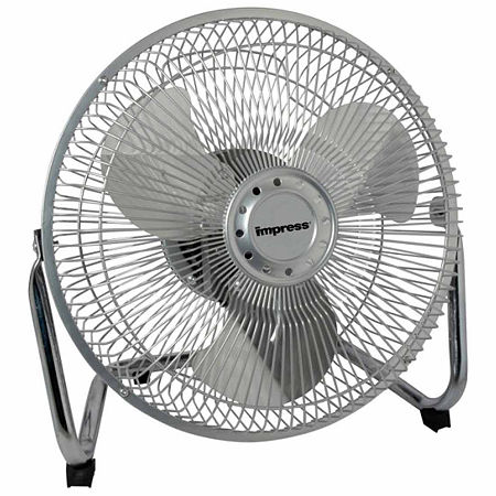Impress 9-Inch All Metal High Velocity Fan- Silver Finish, One Size , Silver