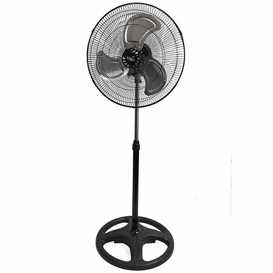 "Vie Air 18"" Industrial Heavy Duty Pedestal Oscillating Metal Stand Fan"