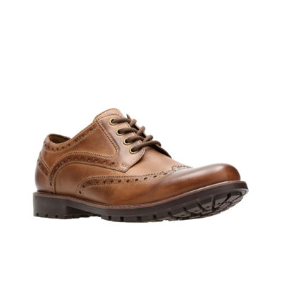 Clarks Mens Curington Oxford Shoes Lace-up Wing Tip