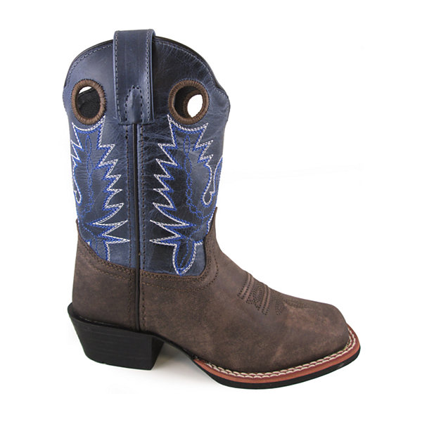 Smoky Mountain Kid's Mesa Oil Distress Crackle Leather Cowboy Boot