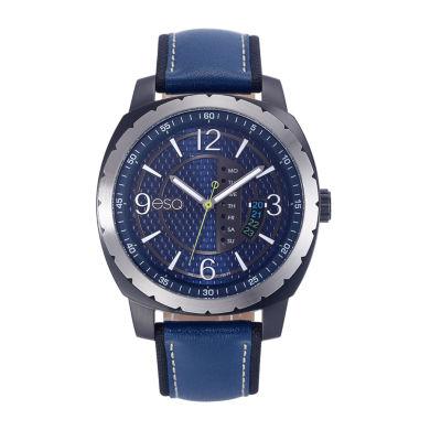 Esq Mens Blue Strap Watch-37esq011201a