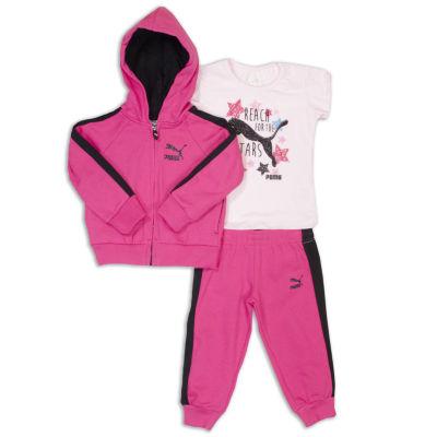 Puma 3-pc. Bodysuit Set-Toddler Girls
