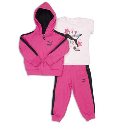 Puma 3-pc. Tonal Pant Set Girls