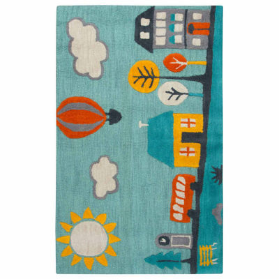 Rizzy Home Play Day  Collection Sawyer Novelty Rectangular Rug