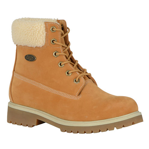 Lugz Womens Convoy Fleece Lace Up Boots Lace-up