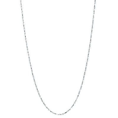 "16-24"" Silver-Plated Thin Twist Boston Chain"