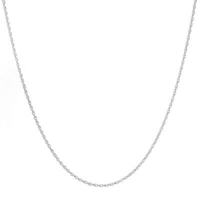 "Silver-Plated 16-24"" Twisted Rope Chain"