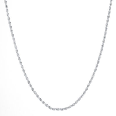 """Silver Reflections™ Silver-Plated 18-24"""" Twisted Rope Chain"""