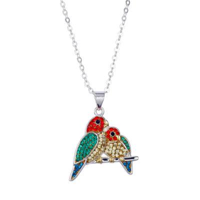 Sparkle Allure Crystal Kingdom Womens Multi Color Silver Over Brass Pendant Necklace
