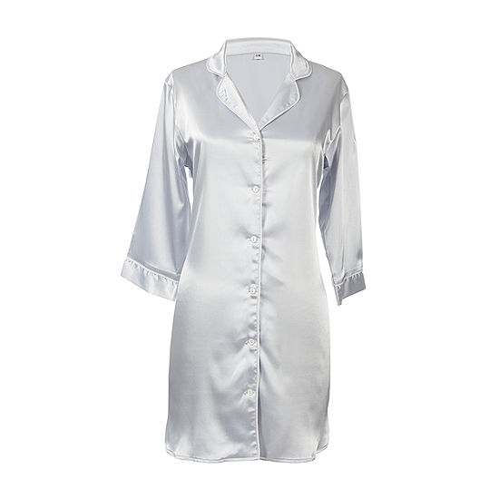 Cathy's Concepts Personalized Glitter Script Satin Night Shirt