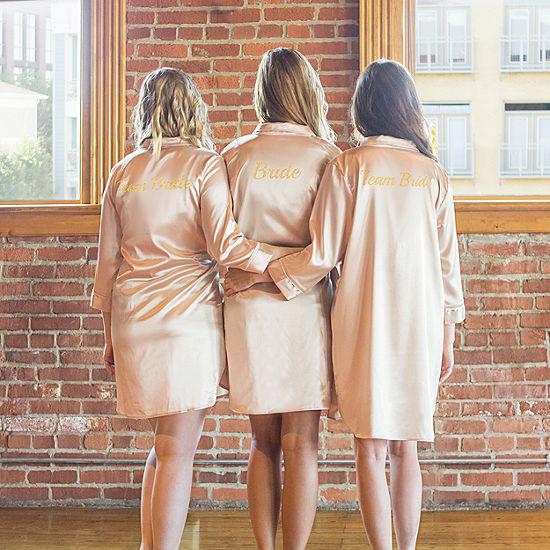 Cathy's Concepts Team Bride Satin Night Shirt