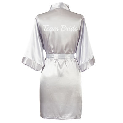 Cathy's Concepts Team Bride Satin Robe