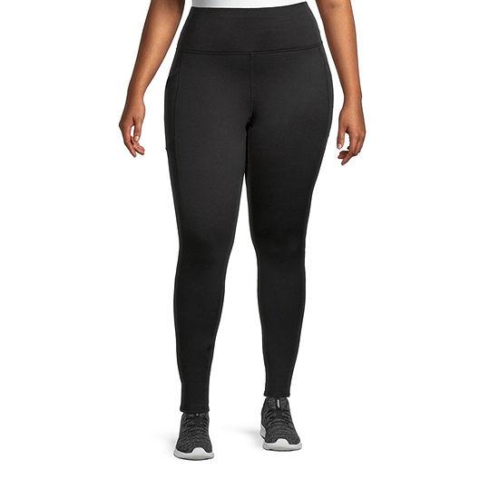 Xersion Womens High Rise Full Length Fleece Lined Leggings Plus