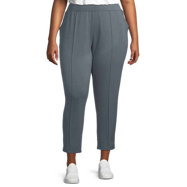 Stylus Pintuck Womens Jogger Pant-Plus