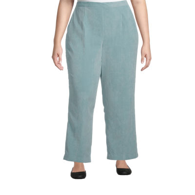 Alfred Dunner-Plus Short St Moritz Womens Straight Pull-On Pants