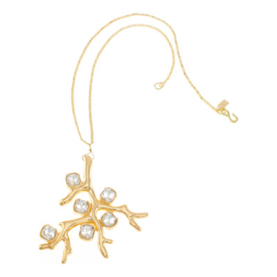 KJL by KENNETH JAY LANE Crystal and Gold-Tone Coral-Reef Pendant Necklace