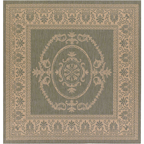 Couristan® Antique Medallion Indoor/Outdoor Square Rug