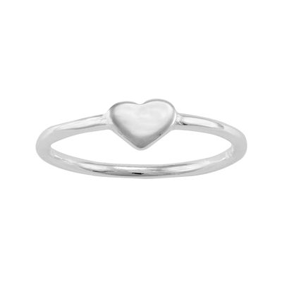itsy bitsy™ Sterling Silver Polished Heart Pinky Ring