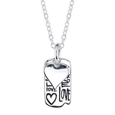 Footnotes® Sterling Silver Love Heart Medallion Pendant