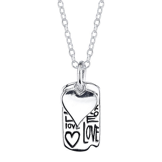 Footnotes Sterling Silver Love Heart Medallion Pendant